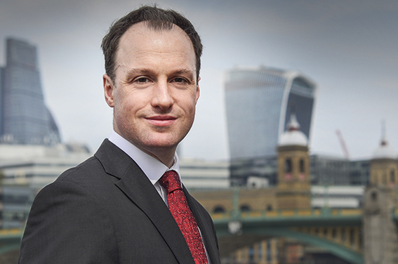 LinkedIn profile photo with London backdrop