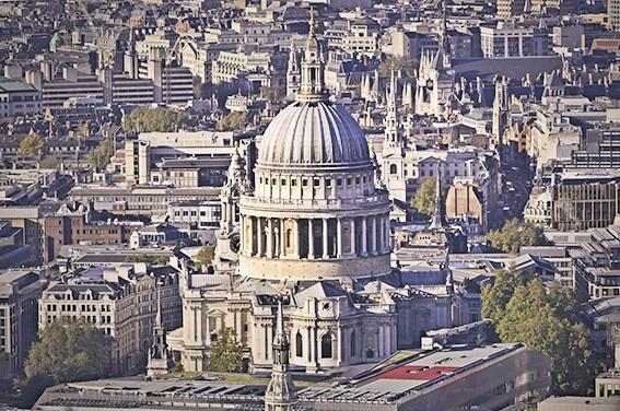 View of St. Paul's Churchyard, London