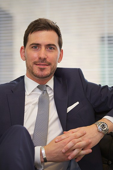Relaxed corporate portrait photography in London