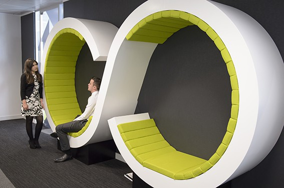 Contemporary office corporate interior photography