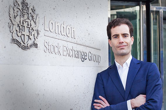 Corporate headshot at London Stock Exchange