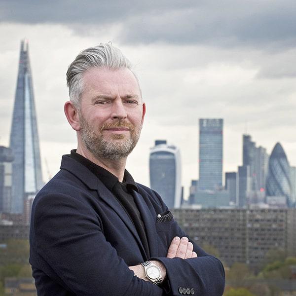 London skyline portrait for business magazine