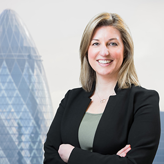 LinkedIn professional photo sample with a London background