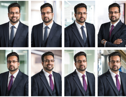 Corporate Headshot with London Office Background