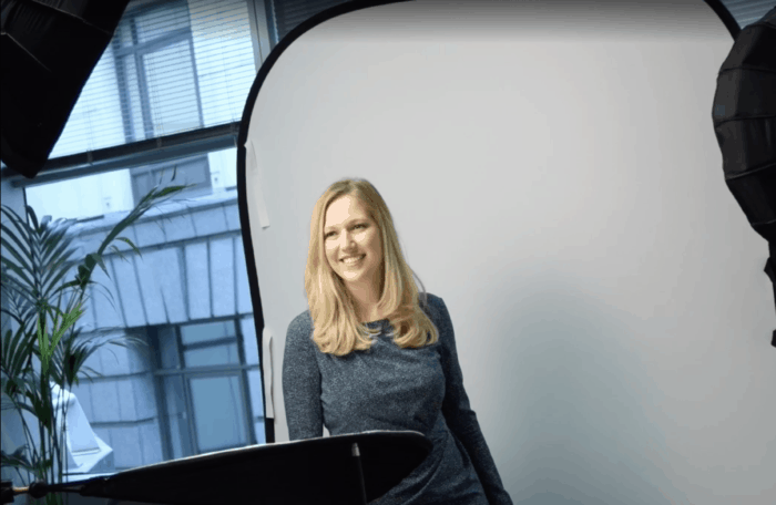 Capturing corporate headshots in London offices.